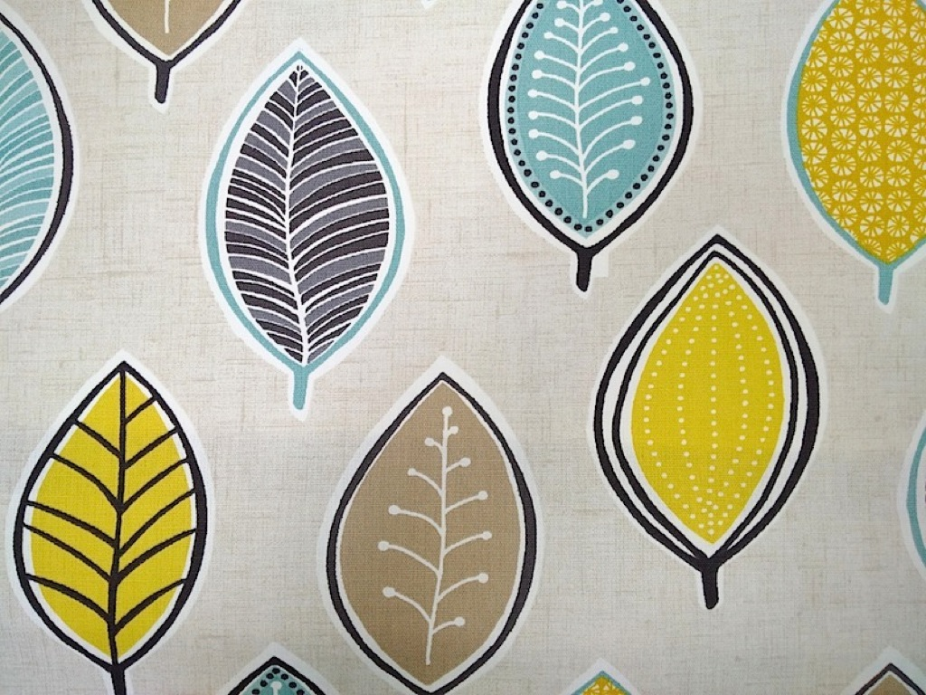 Coco chartreuse cotton curtain fabric