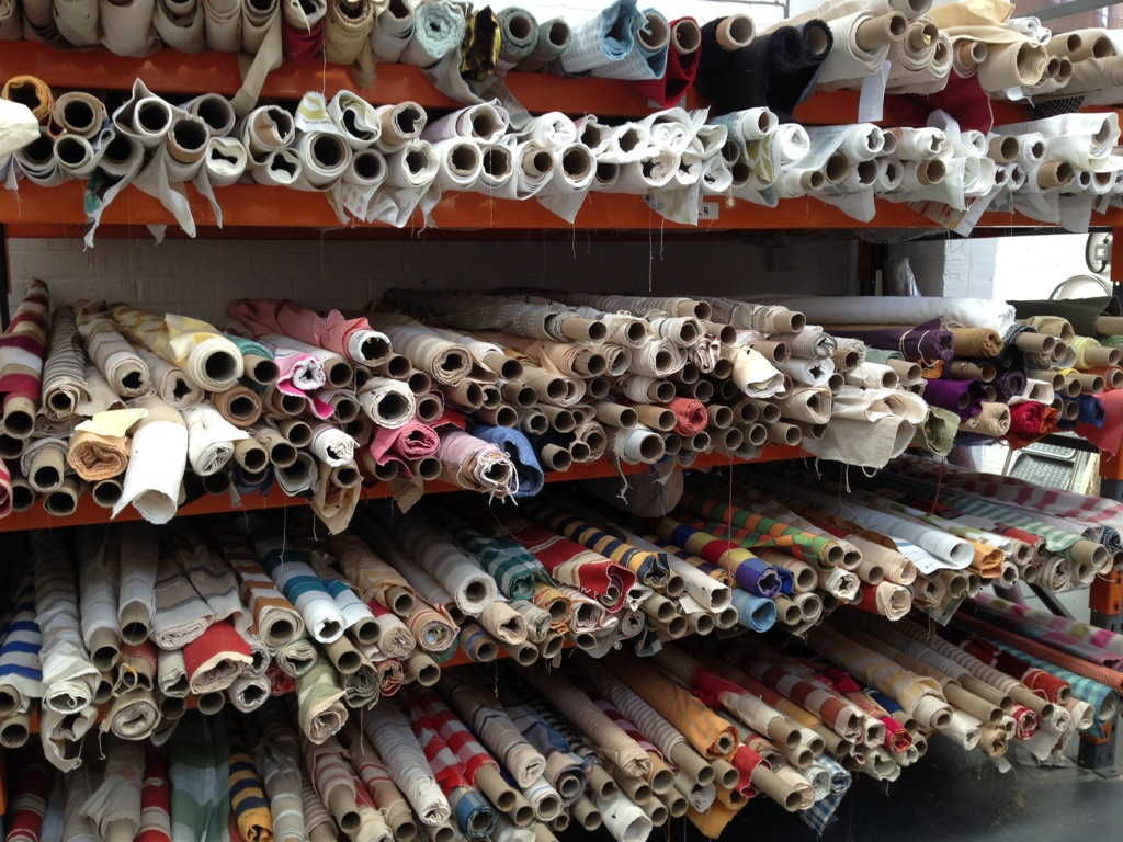 Curtain and upholstery fabric warehouse shop factory outlet