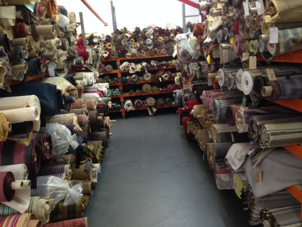 Curtain and upholstery fabric warehouse